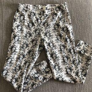 H&M Printed Cropped Dress Pant - Size 10